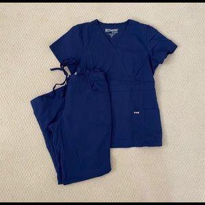 Grey's Anatomy Navy Scurb Set